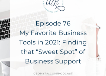 """76   My Favorite Business Tools in 2021: Finding that """"Sweet Spot"""" of Business Support"""